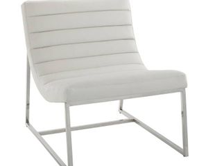 Parisian White leather Sofa Chair by Christopher Knight Home   Retail 321 99