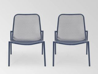 Bucknell Outdoor Modern Dining Chair  Set of 2  by Christopher Knight Home   26 00  W x 22 25  l x 26 00  H  Retail 146 99