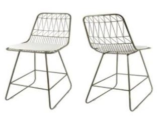 Niez Modern Outdoor 26  Seats Geometric Counter Stools by Christopher Knight Home  Retail 338 49