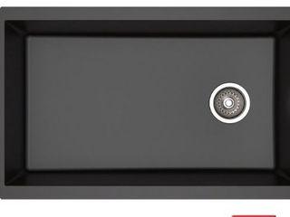 Kraus 32  Undermount Single Bowl Black Granite Kitchen Sink