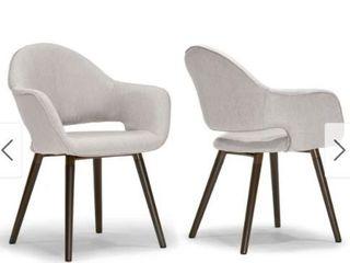 Carson Carrington Vordingborg Arm Chair  Dining Chair 2 piece Set with Beech legs  Retail 218 49