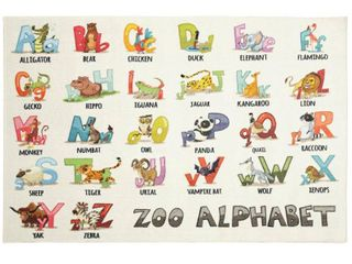 Mohawk Home Alphabet Zoo Area Rug 40in x 60in Retail 84 69