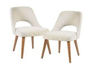 Carson Carrington Tamsalu Dining Chairs  Set of 2    21 5 W x 25 25 D x 34 H  Retail 314 99