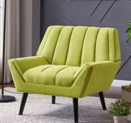 Carson Carrington Mariager Mid century Modern Green Velvet Arm Chair  Retail 389 99