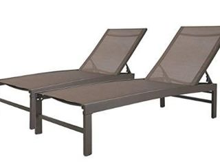 Crestlive Products Aluminum Adjustable Chaise lounge Chairs  Set of 2    75 79 24 61 41 61 in  Retail 285 49