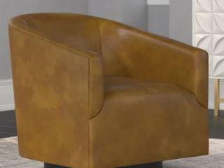Gilbert Wood Base Swivel Chair by Greyson living  Retail 427 49