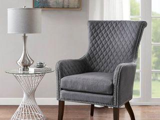 Madison Park lea Grey Accent Chair  Retail 393 99