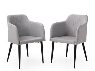 Mid Century Jason Dining Room Accent Chair Set of 2  Retail 249 99