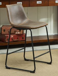 Round Hill Furniture Brown Counter Height Stool