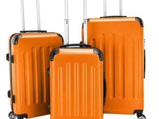 3 piece ABS lightweight Spinner Suitcase Set  20    24    28  Retail 105 49