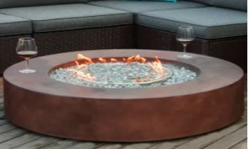 COSIEST Outdoor Propane Fire Pit Coffee Table With Round Base  Retail 864 99