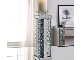 ACME Nysa Accent Candleholder  Mirrored and Faux Crystals  Retail 97 99