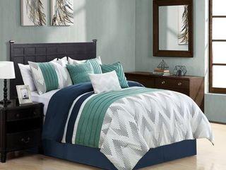 Elight Home Polyester Microfiber 7pc Comforter Set  Retail 137 99