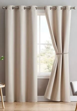 Porch   Den Jessamine Thermal Insulated Blackout Curtain Panels with Tie Backs