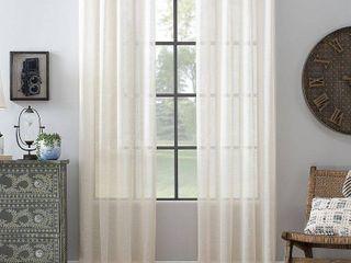 Archaeo Slub Textured linen Blend Grommet Top Curtain 52inX84in Set Of 2