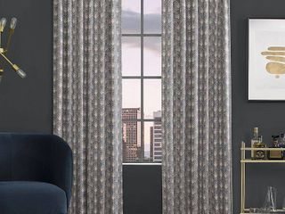 Scott living Montauk Art Deco Total Blackout Back Tab Curtain Panel Set of 2