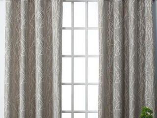 Copper Grove Bouvardia Finesse Faux linen Grommet Top Curtain Panel Pair
