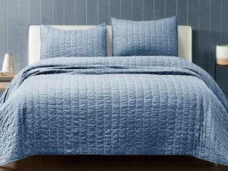 Beaute living Cotton Cross stitching 3 Piece Quilt Set  Retail 116 99