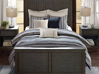 Madison Park Signature Farmhouse Queen 8 Piece Comforter Set Bedding