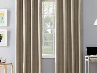 Sun Zero Duran Thermal Insulated Set of 2 Total Blackout Grommet Curtain Panel