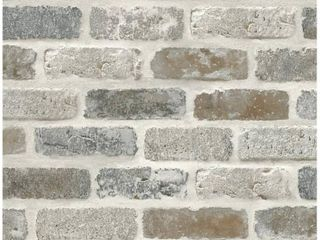 NextWall Washed Brick Peel and Stick Removable Wallpaper   20 5 in  W x 18 ft  l