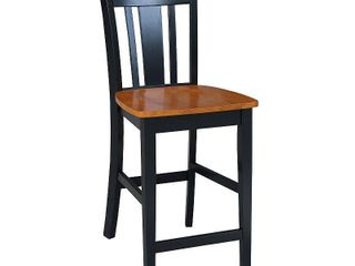 International Concepts San Remo 24  Counter Height Stool  Black Cherry
