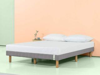 Queen Zinus 11 Inch Quick Snap Standing Mattress Foundation low Profile Platform Bed
