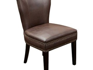 Jackie Contemporary Bonded leather Dining Chair with Nailhead Accents by Christopher Knight Home