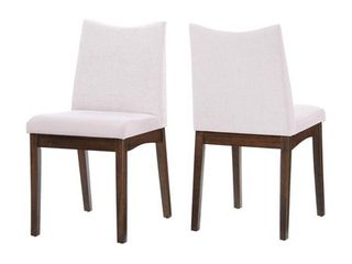 Dimitri Mid Century Fabric Dining Chair  Set of 2  by Christopher Knight Home