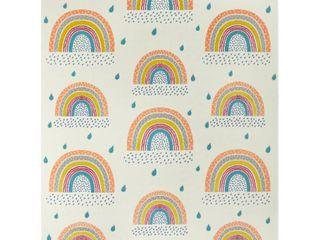 Mod Tod Chasing Rainbows Kids Rug  5 3  x 7    Off White