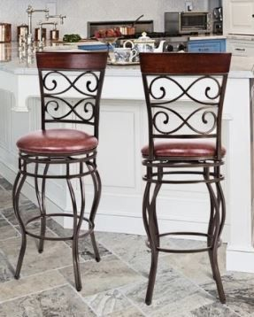 Copper Grove Esperance Swiveling Vintage Bar Chairs with Padded Seats  Set of 2  Retail 156 99 Same Pair as  38428