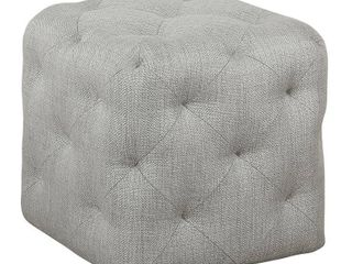 HomePop Small Pin Tufted   Textured Gray Retail 99 99