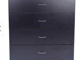 Furniture 4 drawer Wood Storage Chest Black Retail 149 49