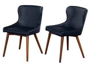 Simple living Seguro Dining Chairs  Set of 2  Retail 251 99 These are Grey NOT Blue