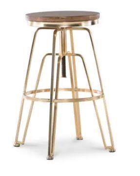 Aimes Wood and Metal Adjustable Stool Retail 132 49
