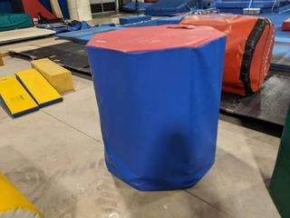 Blue Red large Octagon Barrel