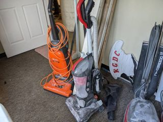 Two Vacuum Cleaners  Coat Rack And More