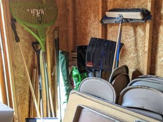 Assorted Items  Shovels  Brooms And More