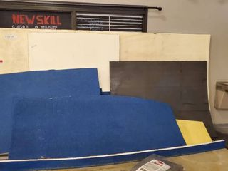 Various Sizes Of Carpet Bonded Foam  Blue 2in Thick