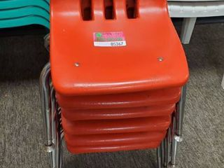 6  Red Childrens Chairs