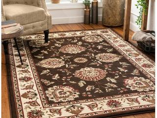 9 3 x 12 6  Well Woven Timeless Abbasi Traditional Persian Oriental Botanical Brown 9 3  x 12 6  Area Rug