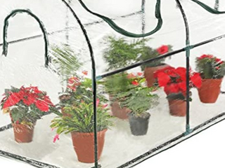 Seven colors house Reinforced Portable Mini Greenhouse 35 4 x 70 8 x 39 inches Vegetable Plant Mini Arc Greenhouse with Clear Cover for Indoor or Outdoor Plants