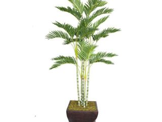Vintage Home 78 Inch Tall Palm Tree in 17 Inch Fiberstone Planter