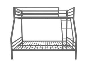 Novogratz Maxwell Twin Full Metal Bunk Bed  grey item comes in only 1 box and may not be complete