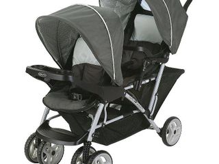 Graco DuoGlider Double Stroller  Glacier APPEARS USED  NOT FUllY INSPECTED OUTSIDE BOX
