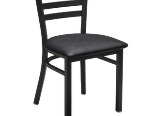 metal ladder back chair with vinyl seat cushion set of 4