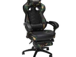 HNI CORP 110 Racing Style Gaming Chair  Reclining Chair with Footrest  in Forest Camo  RSP 110 FST