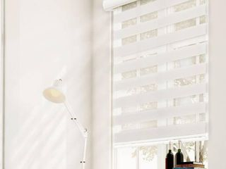 Chicology Dual layer   Privacy Free Stop Cordless Zebra Roller Shade