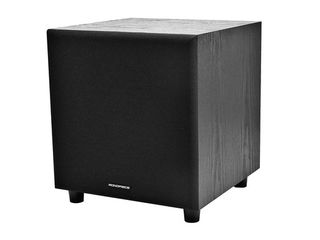 Monoprice 60 Watt Powered Subwoofer   8 Inch With Auto On Function  For Studio And Home Theater