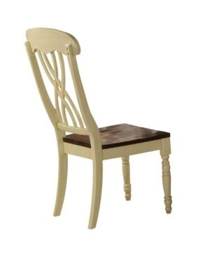 Acme Dylan Side Chair  Buttermilk and Oak  Set of 2